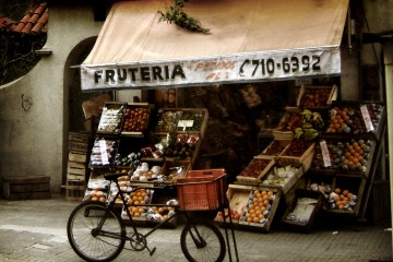 The Neighborhood Fruit Stand in Montevideo, Uruguay