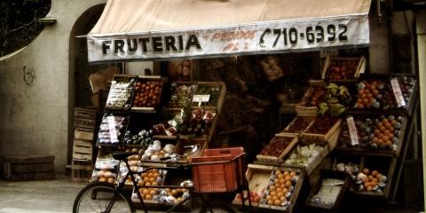 The Neighborhood Fruit Stand in Montevideo, Uruguay
