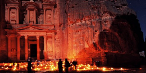 Full Moon Over The Lost City, Petra, Jordan