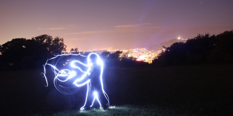Fully Charged (Light Art) in Wellington, New Zealand