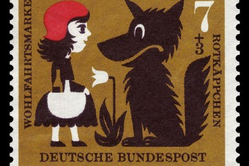 "German Stamp Depicting Legend of ""Red Riding Hood"""