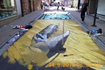 German Street Artist: Dinosaur