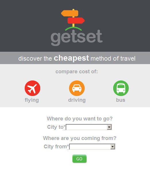 GetSet - Travel App (screenshot)