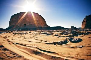 Golden Sand, White Desert, Egypt