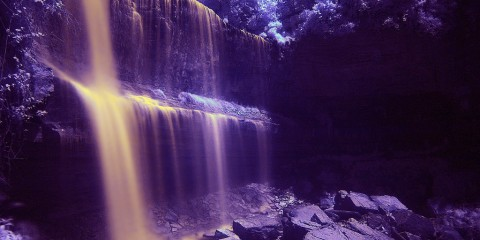 Webster's Falls, Ontario, Canada (in infrared)
