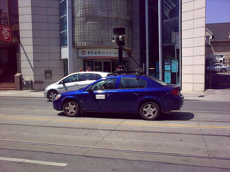 Google Street View Car in Chinatown, Toronto