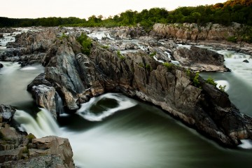 Long exposure photo of Great Falls, Virginia