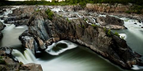 Long exposure photo of Great Falls, Virginia