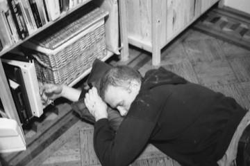 Guy on Floor - Drunk or Sleeping?