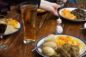 Haggis Dinner in Glasgow, Scotland