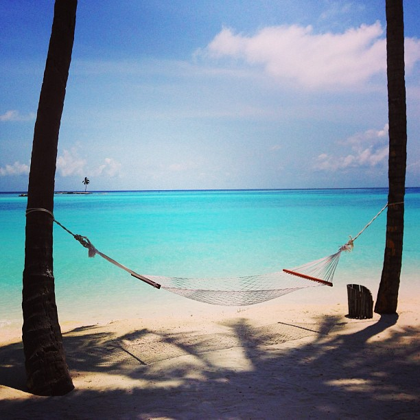 Beach Hammock at Gili Lankanfushi, Maldives