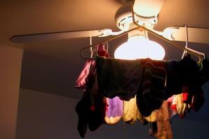 Hang Drying Socks