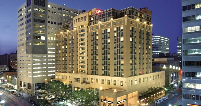 Exterior of the Harrisburg Hilton