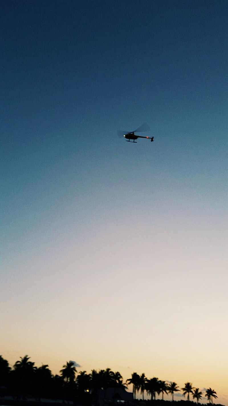Our Helicopter in Silhouette