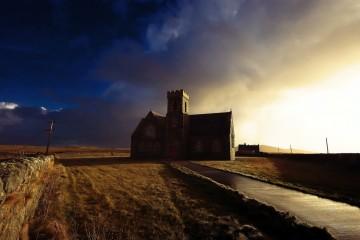 Heylipol Church in Tiree, Scotland