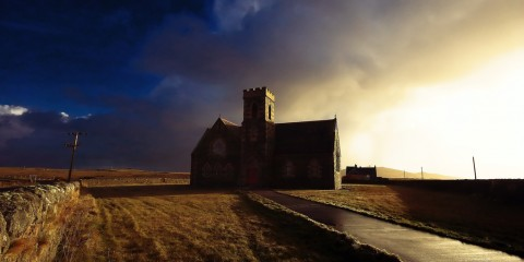 Heylipol Church in Tiree, Scotland