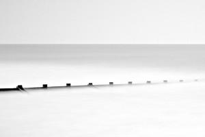 High Tide at Skegness Beach, England, United Kingdom (UK)
