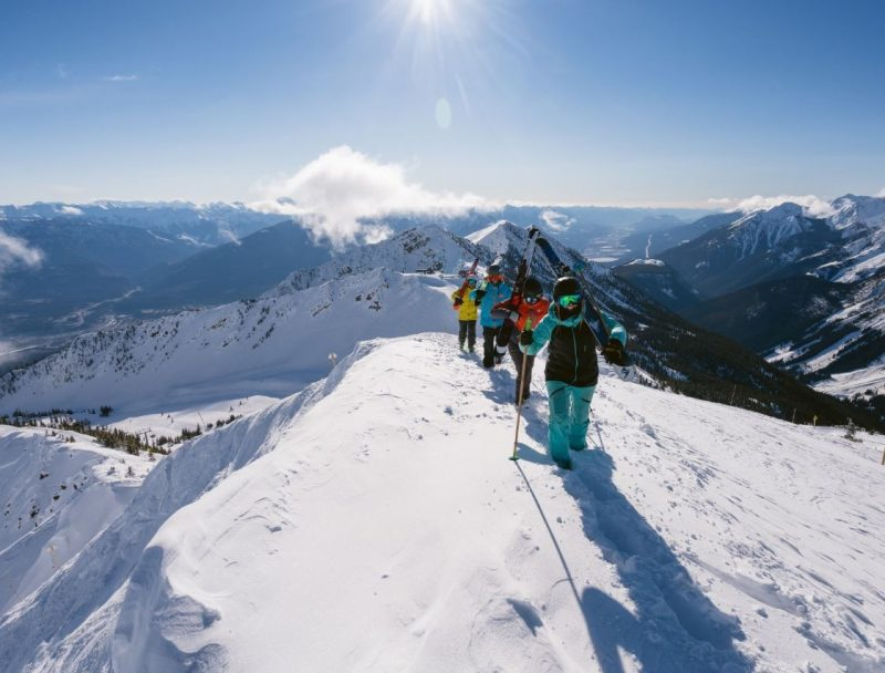 Hiking Kicking Horse Ski Resort, British Columbia, Canada