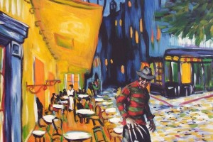Nightmare at Cafe Terrace (art by Hillary White)