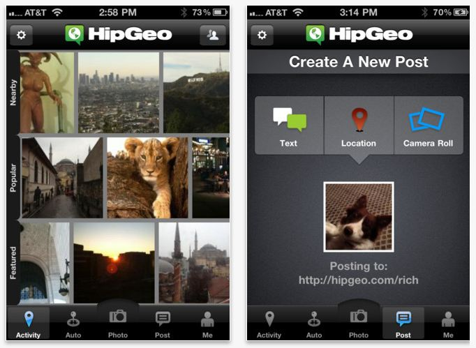 HipGeo Mobile App