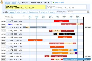 Hipmunk.com Screenshot