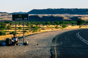 Hitchhiking in Namibia, Africa