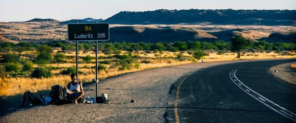 Hitchhiking in Namibia, Africa