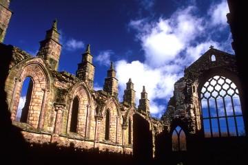 The Ruins of Holyrood Abbey in Edinburgh, Scotland