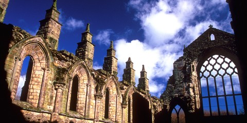 The Ruins of Holyrood Abbey in Edinburgh, Scotland