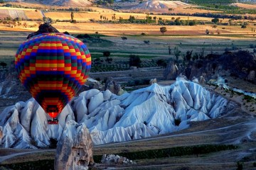 Hot Air Balloon Over Cappadocia, Turkey