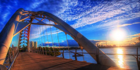 Sunrise Over Humber Bay Arch Bridge, Toronto