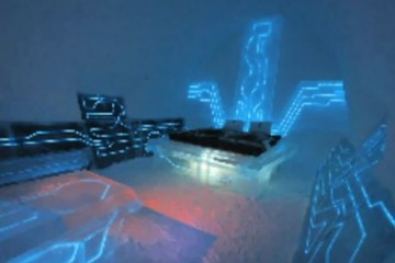 'TRON: Legacy' Room at Ice Hotel, Sweden