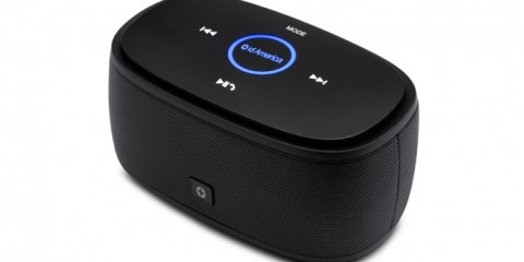 id America TouchTone Portable Wireless Bluetooth Travel Speaker (black)