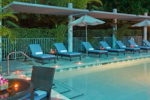 Poolside at il Lugano Hotel in Fort Lauderdale, Florida