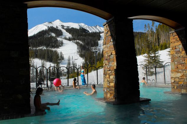 Indoor/Outdoor Pool at The Spa at Moonlight Basin, Montana