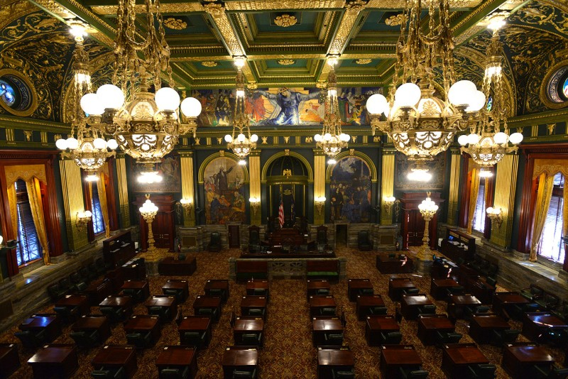 Interior of the Pennsylvania State Capitol Building in Harrisburg