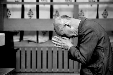 Japanese Man Praying