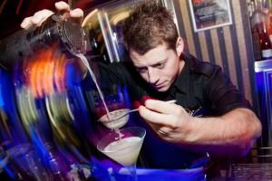 Jeremy Foster Tending Bar