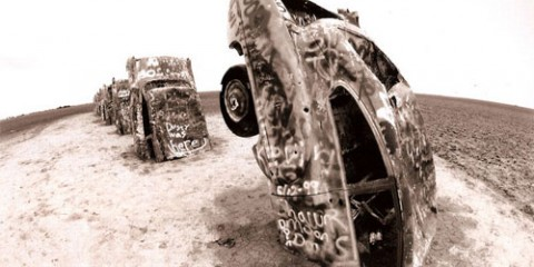 Cadillac Ranch, Texas (by Jody Morris)