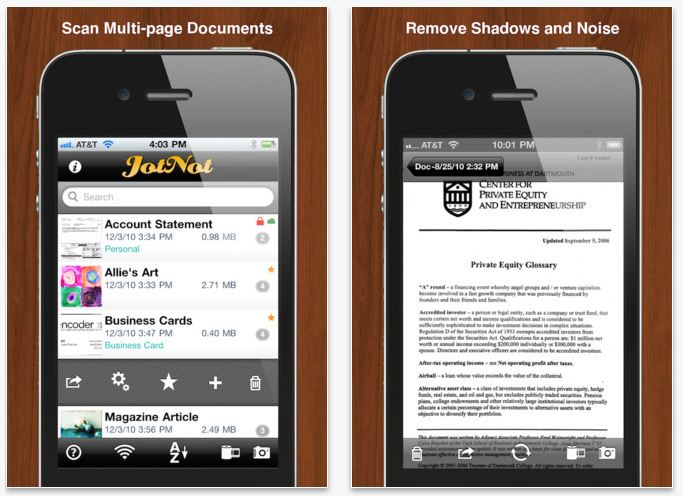 JotNot Scanner Pro Mobile App