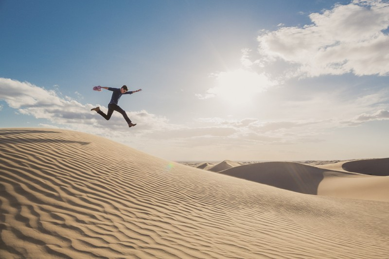 Jumping the Dunes by Cole Rise