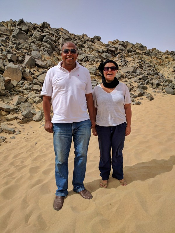 Kelsey with Loud Muhammad in the desert near Hurghada
