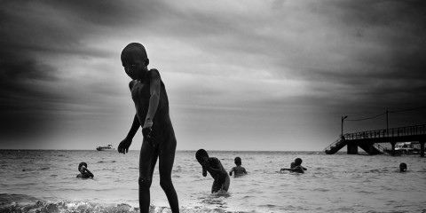 Kids in the Water, Inhaca Island, Mozambique
