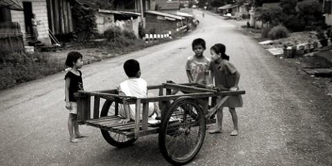 Kids in Vang Vieng, Laos