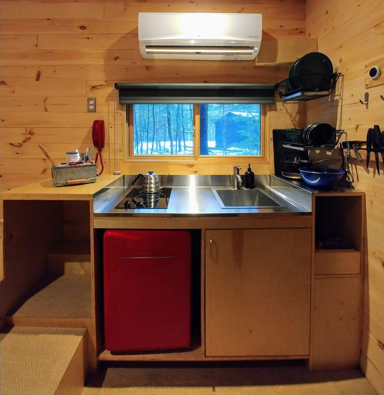 Cabin Kitchen at Getaway House Boston