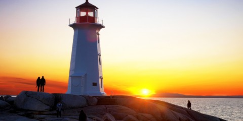 Last Rays at Peggy's Cove, Nova Scotia