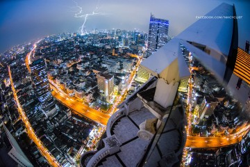 Aerial view of Bangkok from Lebua Tower, Thailand
