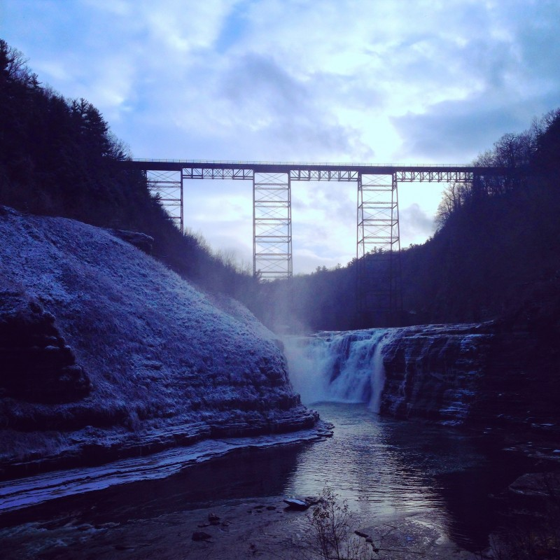 Upper Falls at Letchworth State Park in New York