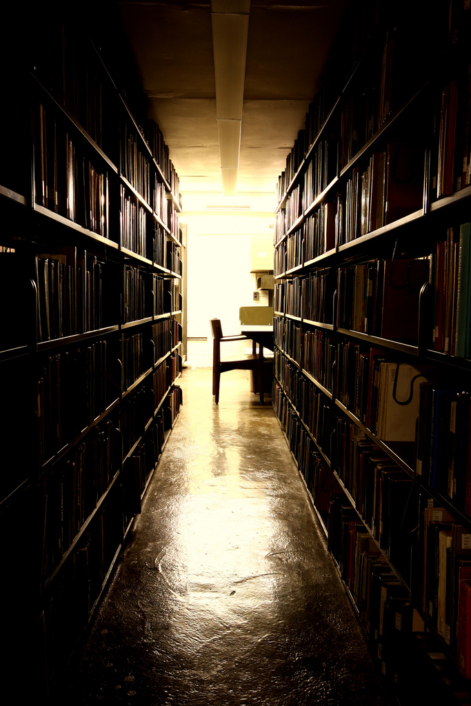 Library Stacks at Cornell University, New York