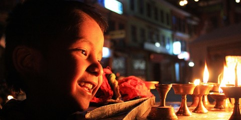 Light Boy at Bauddha, Nepal